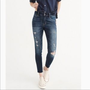 Abercrombie Harper Ankle Jeans Distressed